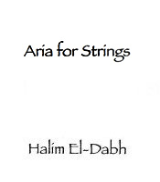 Score cover Aria for Strings