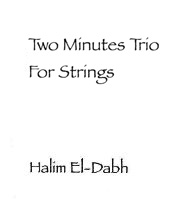 Score cover Two Minutes Trio for Strings