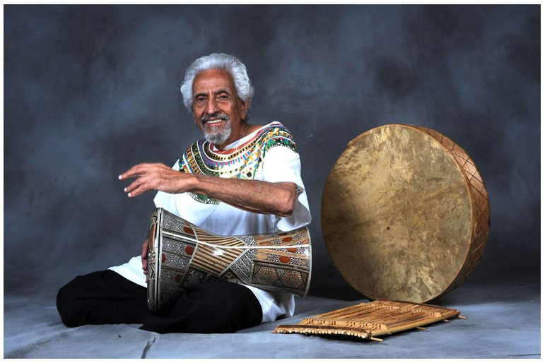 Halim El-Dabh with Drums